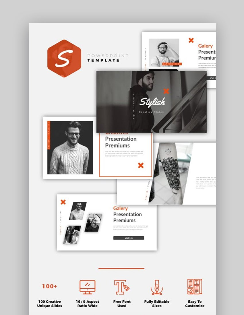 Stylish Creative PowerPoint Template
