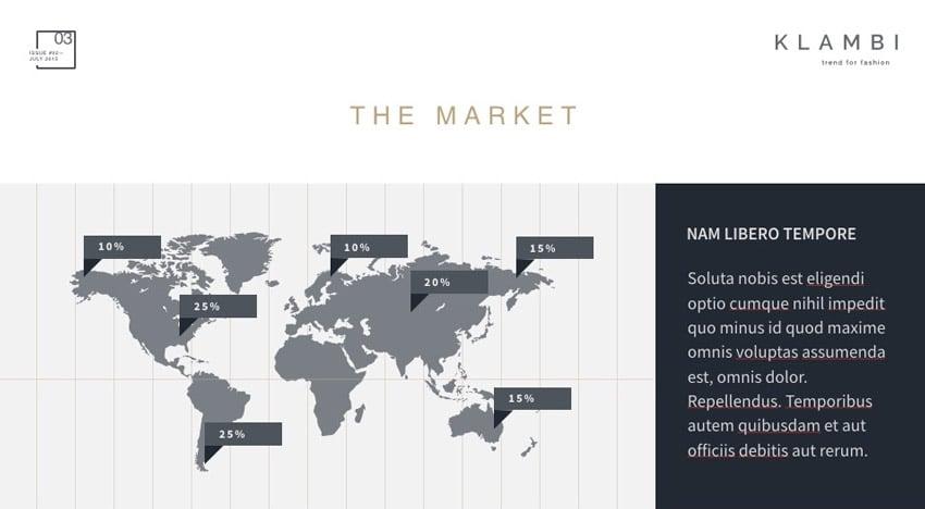 Die Marktfolie