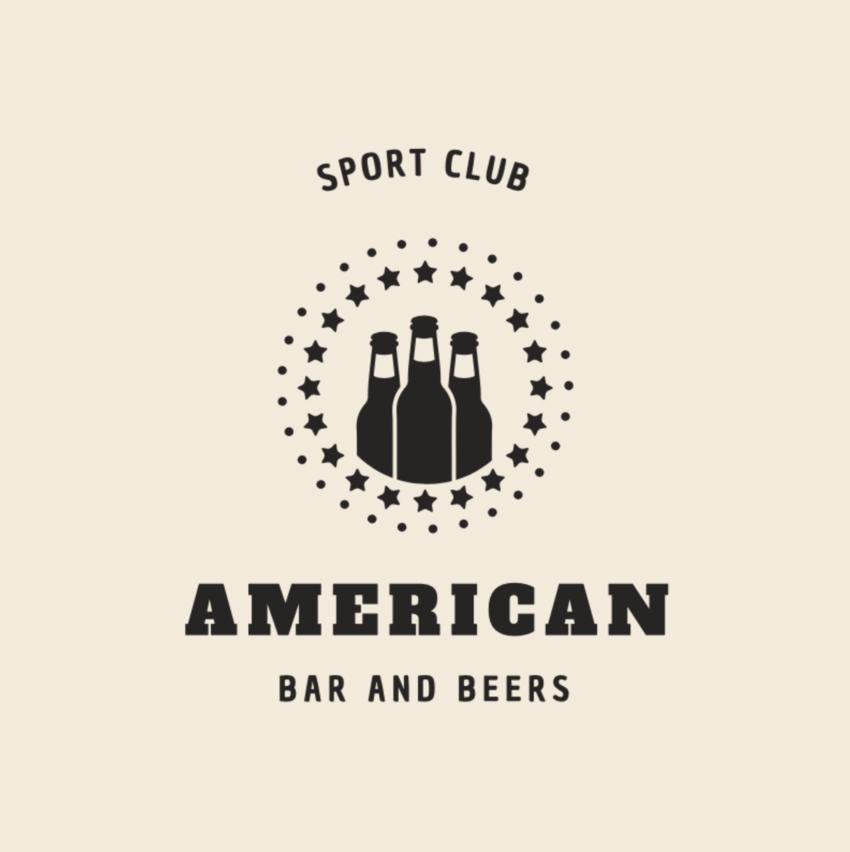 American Sports Bar Logo Maker