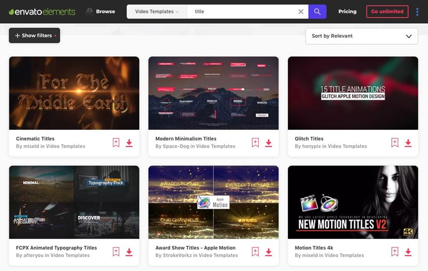 15 Top Title Templates for FCPX