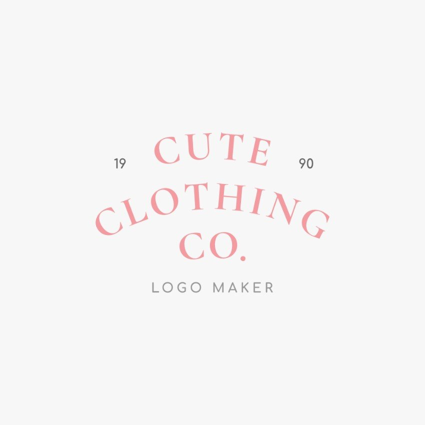 Fashion Shop Logo Maker with Curved Text