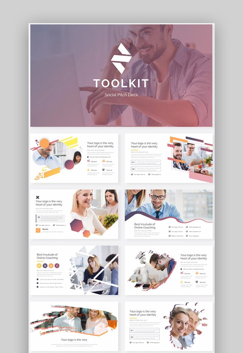 Social Toolkit Pitch Deck Keynote Template