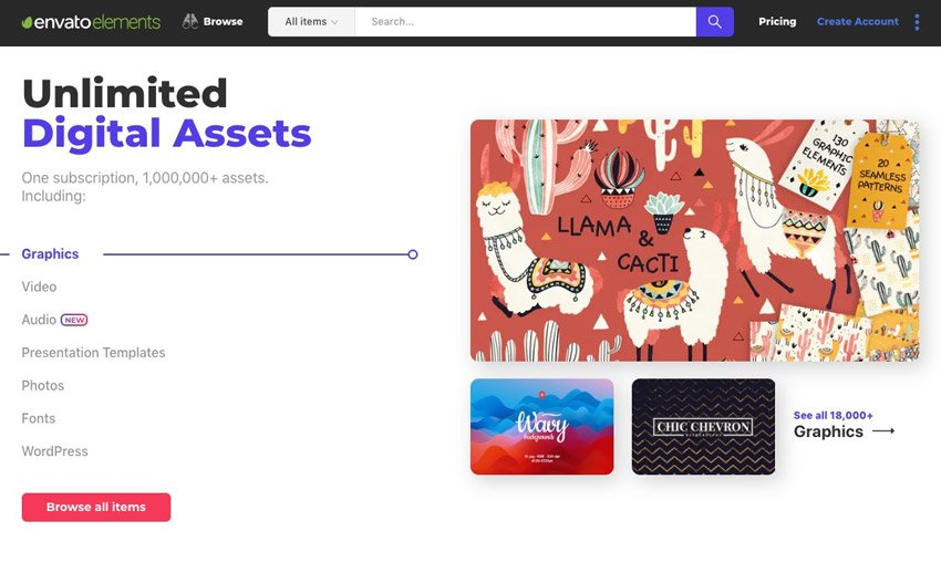 Envato Elements Unlimited Assets