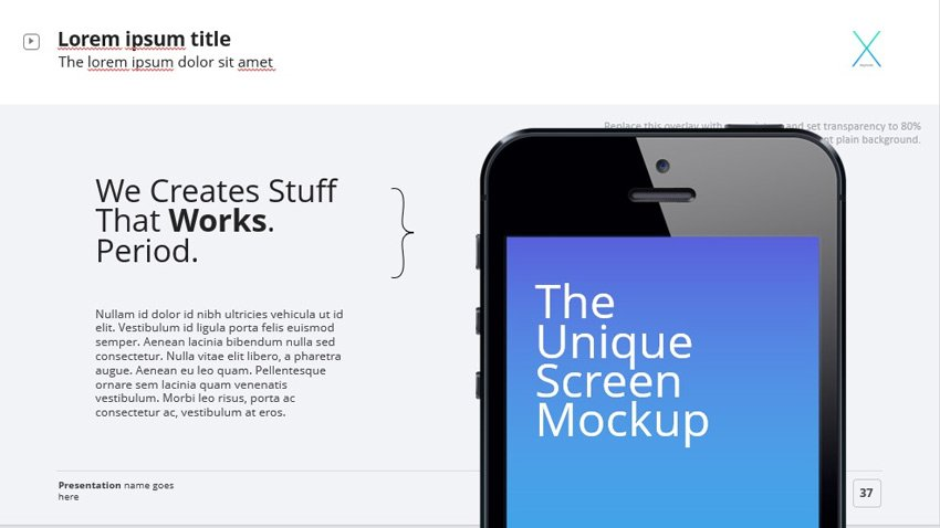 The X Note default mockup