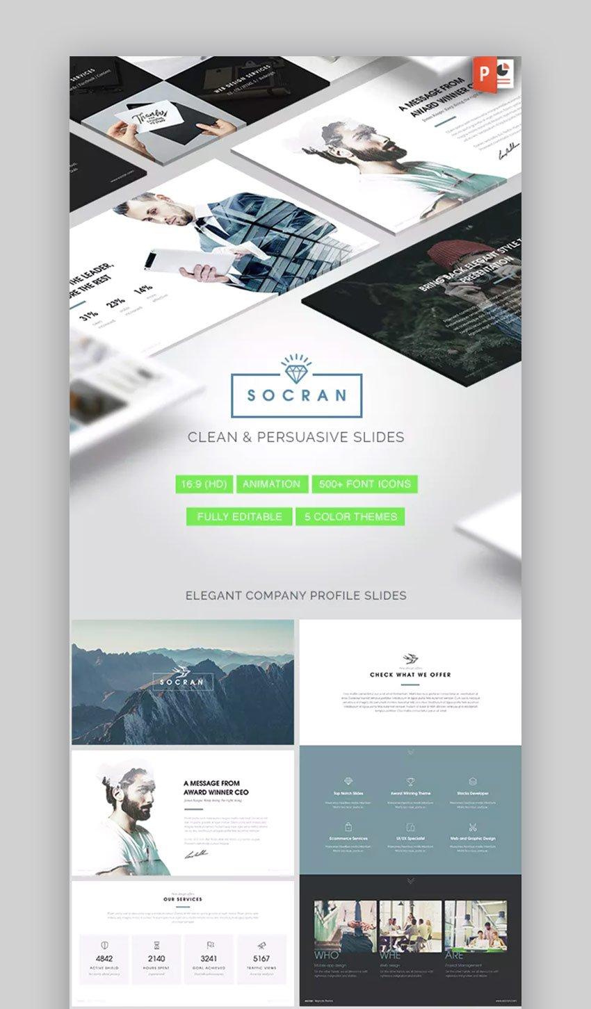 Socran clean and modern Simple PowerPoint Design