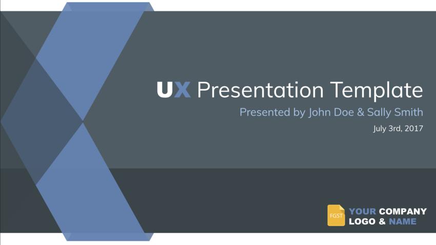 Google Slides Themes UX template