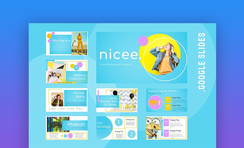 Nicee Colorful Google Slides