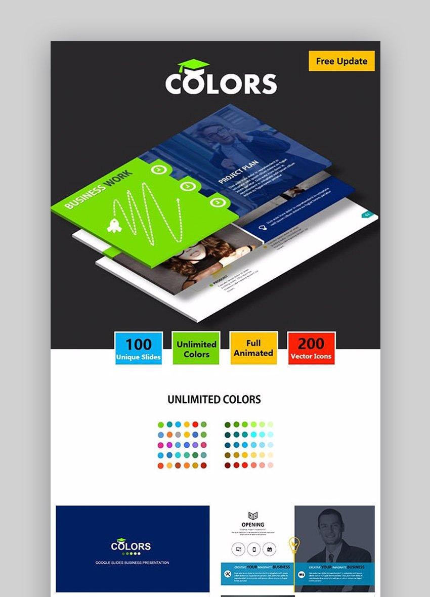 Colors Google Slides Business Presentation