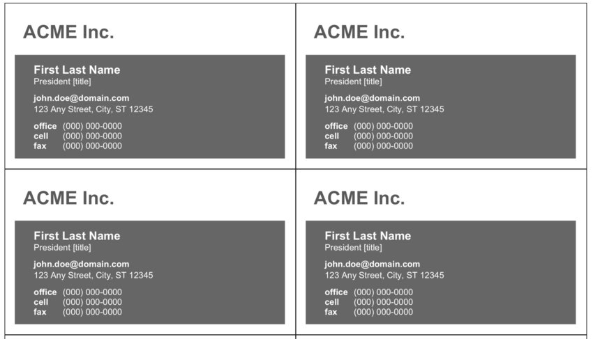 Basic Grayscale Business card template