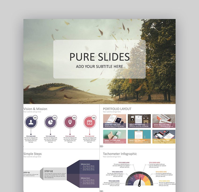 Pure Business Professional PowerPoint-Designs