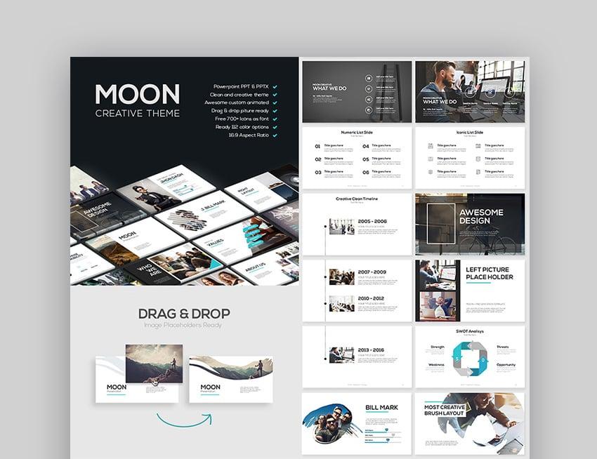 Good PowerPoint Templates Moon