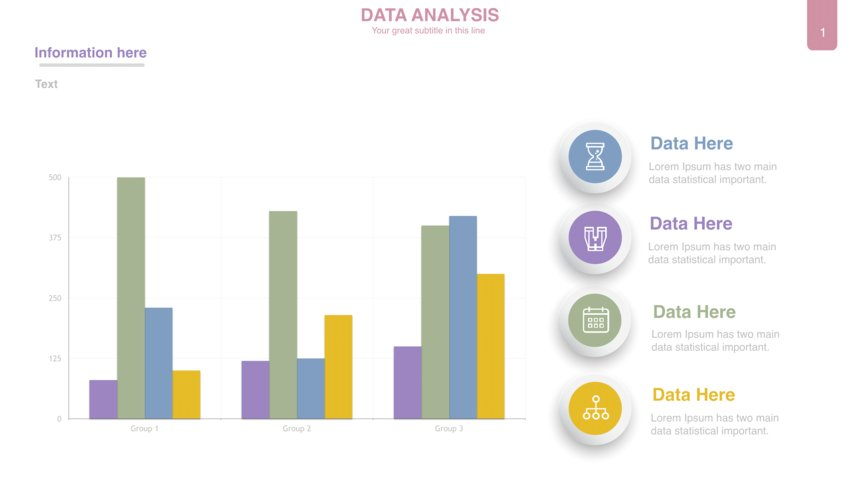 Aesthetic PowerPoint Templates with Charts