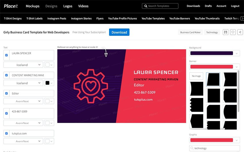 Business Card Templates on Placeit