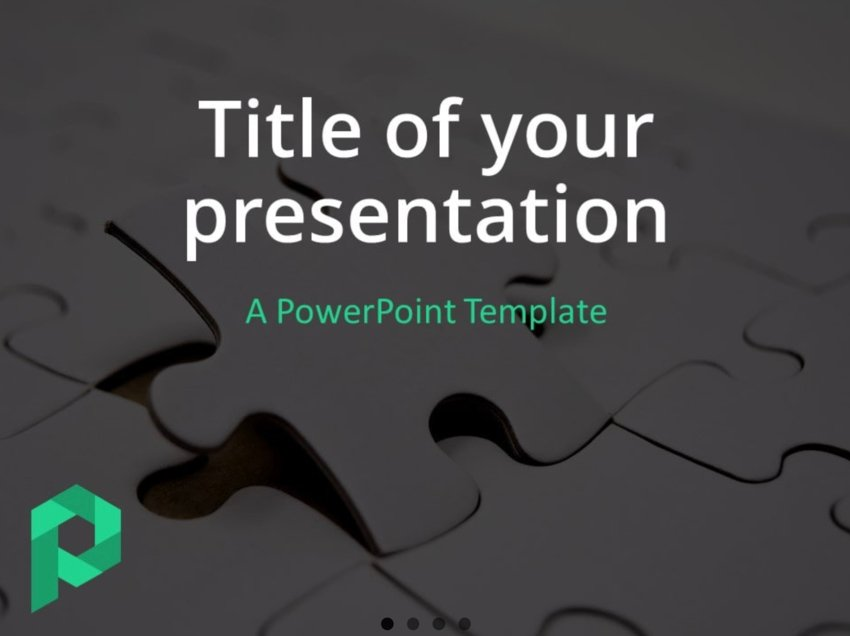 PowerPoint jigsaw puzzle template