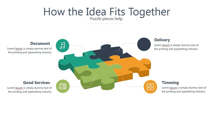 PowerPoint Puzzle Pieces PPT
