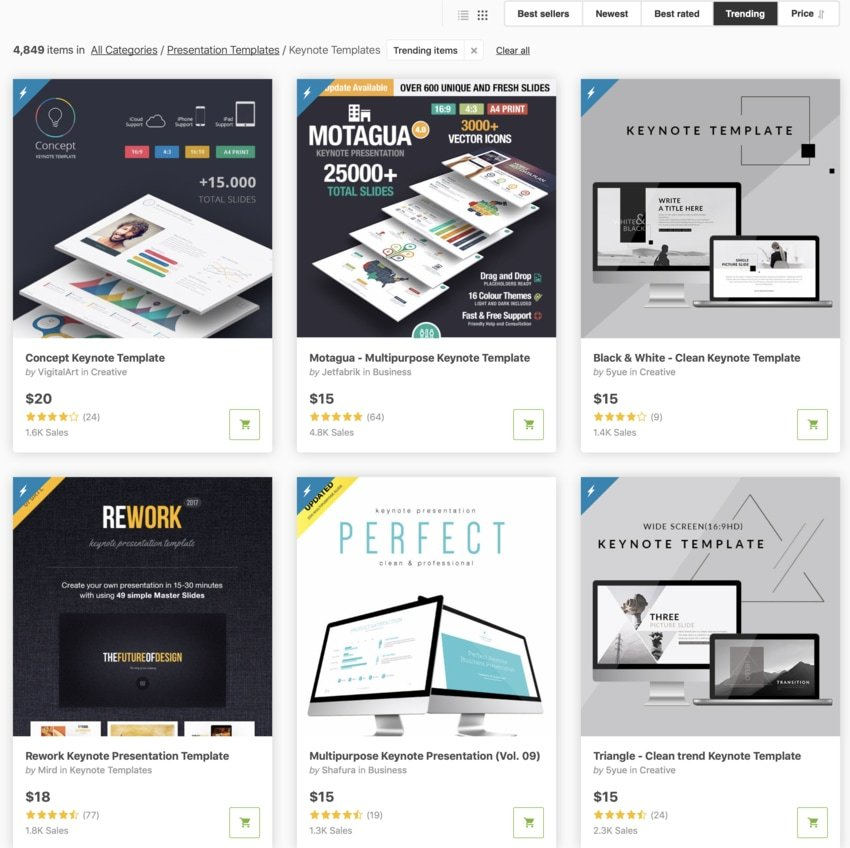 GraphicRiver Keynote presentation templates