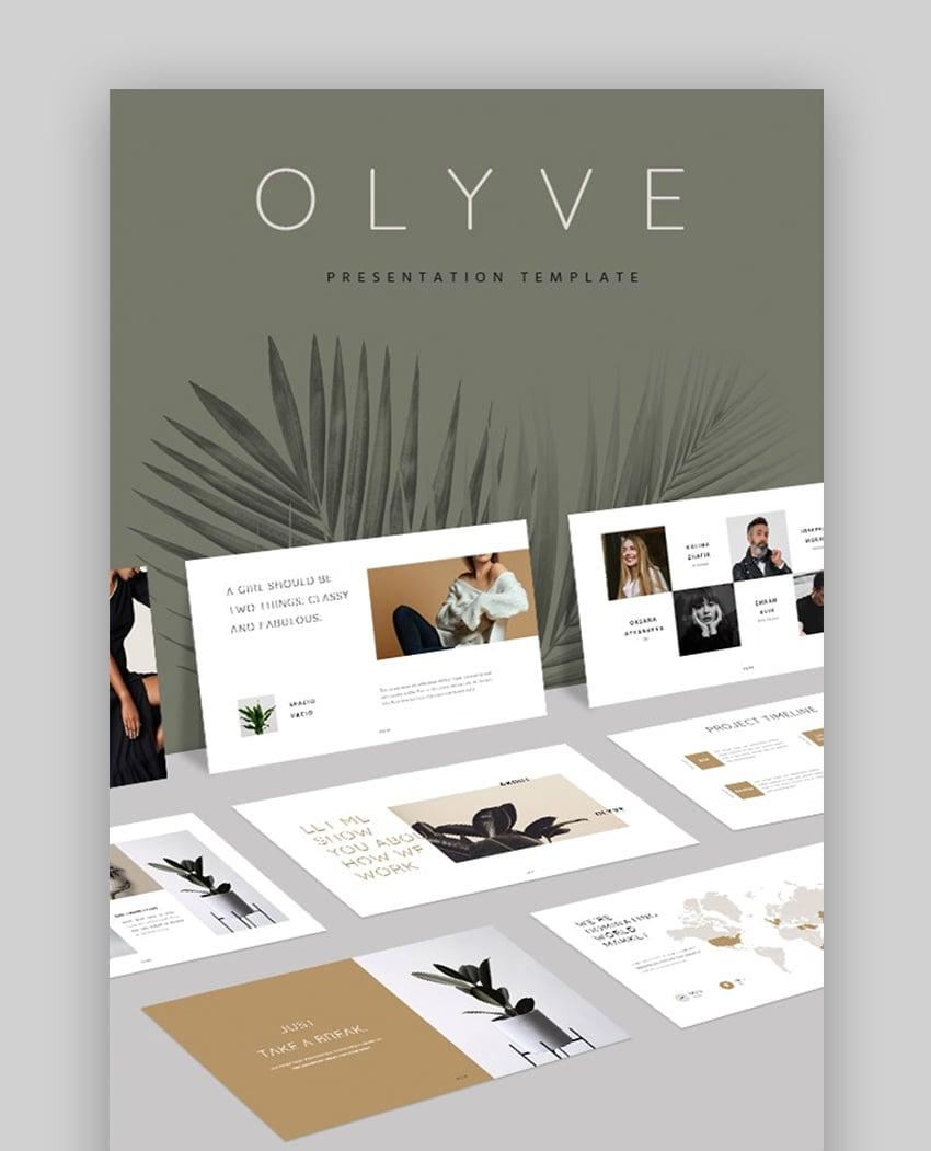 Olyve PowerPoint Slide Design Ideas