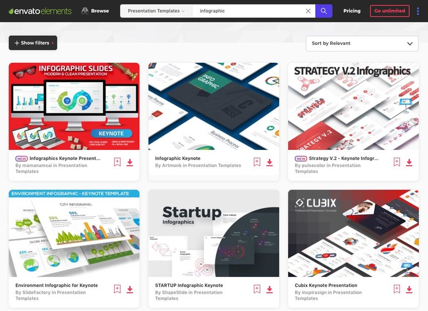 Envato Elements Keynote Infographic Template