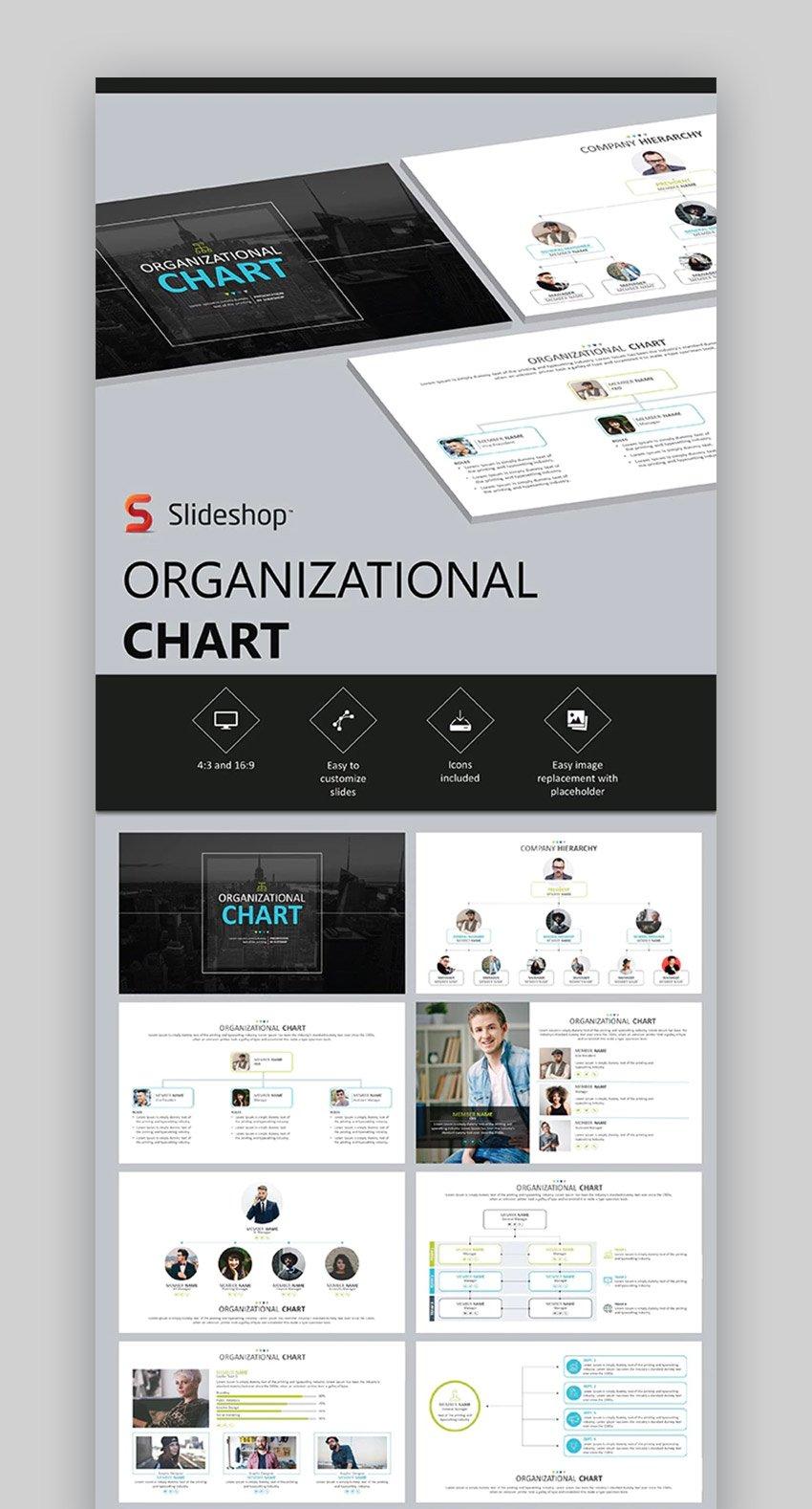 Organizational Chart PPT Template