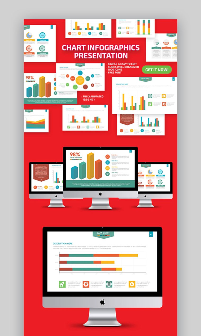 Chart Infographics PPT Template