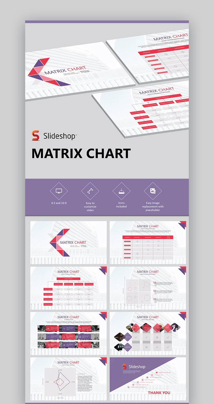 Matrix PowerPoint Chart Template