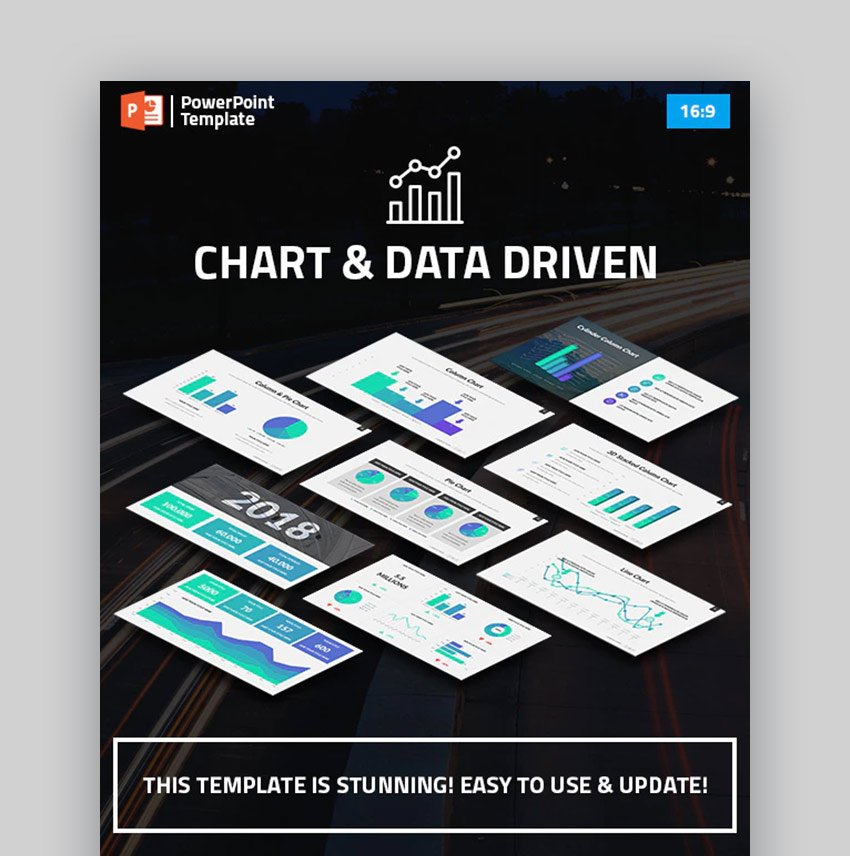 Charts and Data Driven PPT Chart Template