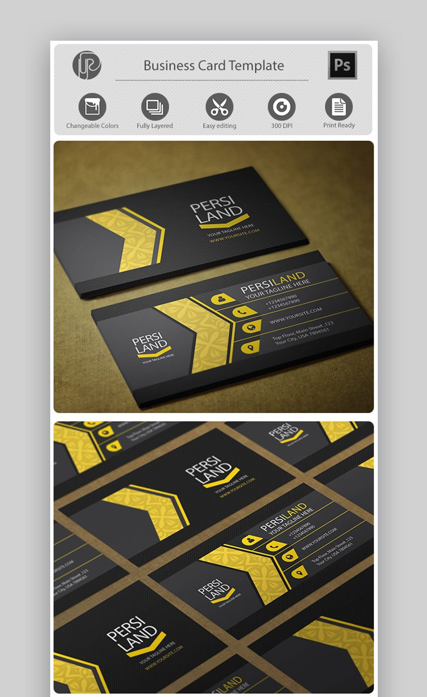 Personal Yellow Business Card