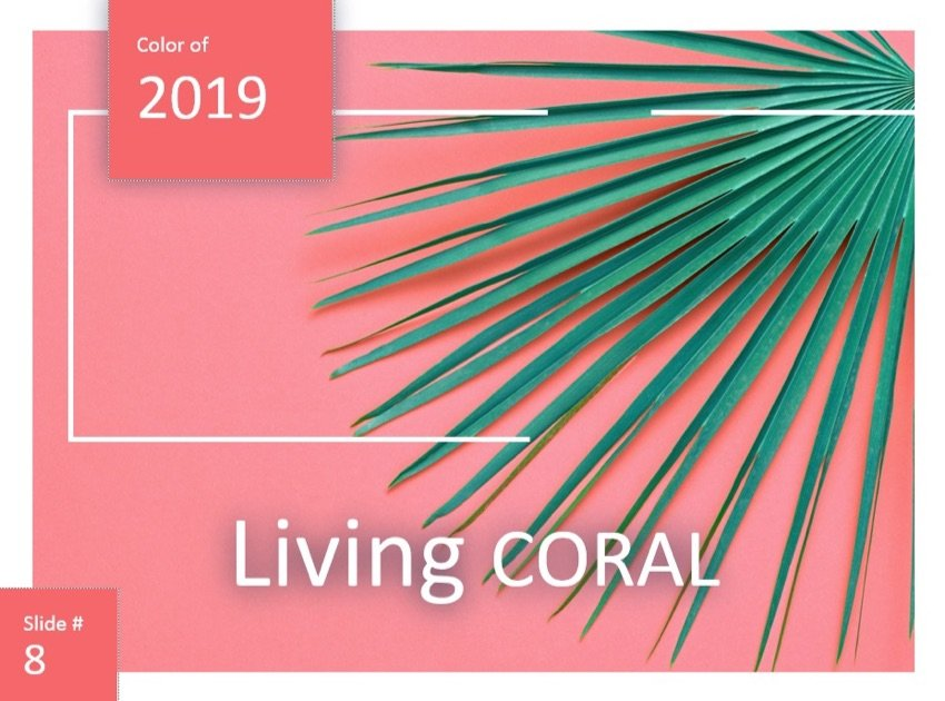 Living Coral PowerPoint Color Schemes