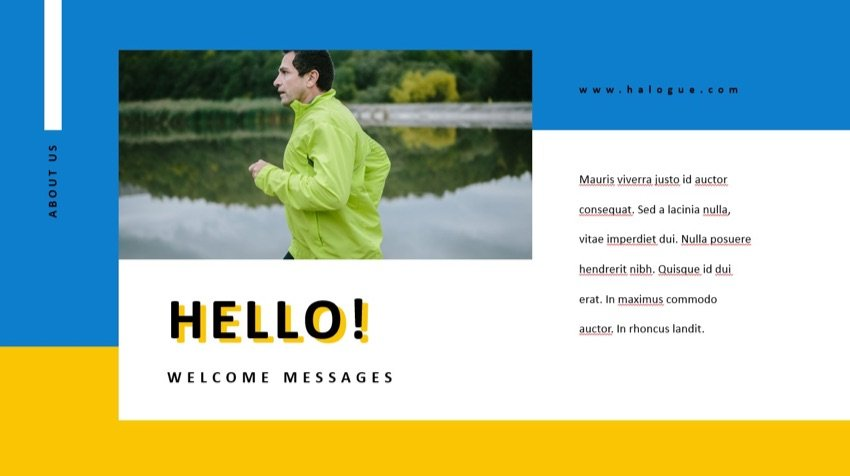 Creative PowerPoint Template Halogue