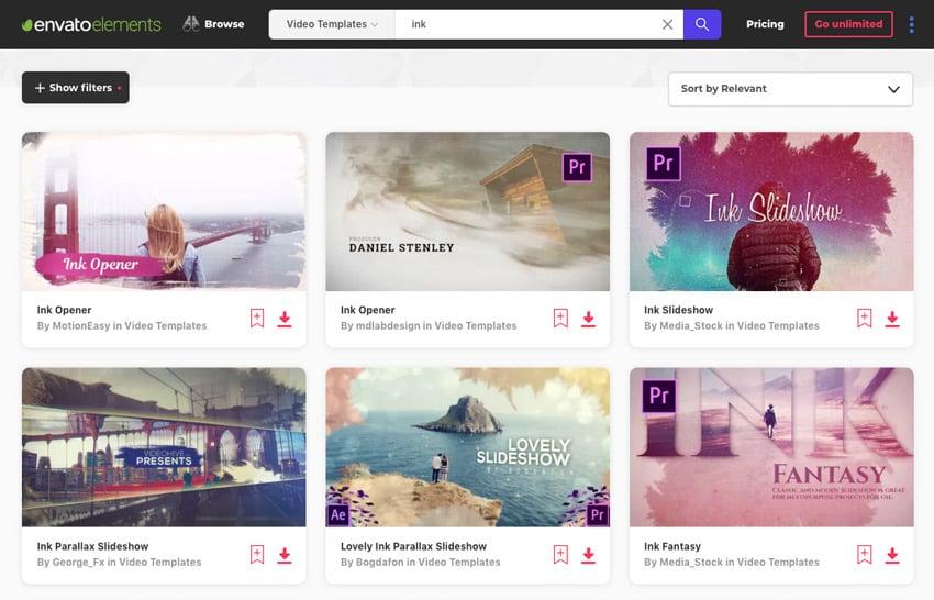 Envato Elements Adobe Premiere Pro