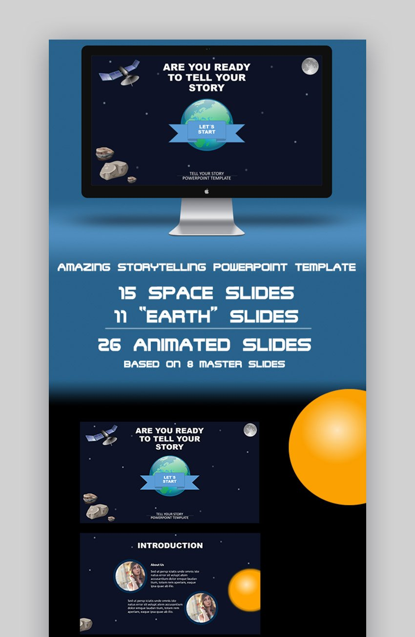 Space animations for PowerPoint