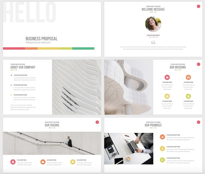 Simple PPT Templates with Free downloads