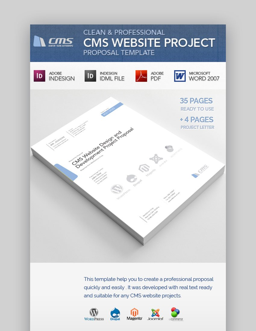 Clean InDesign Layout Template