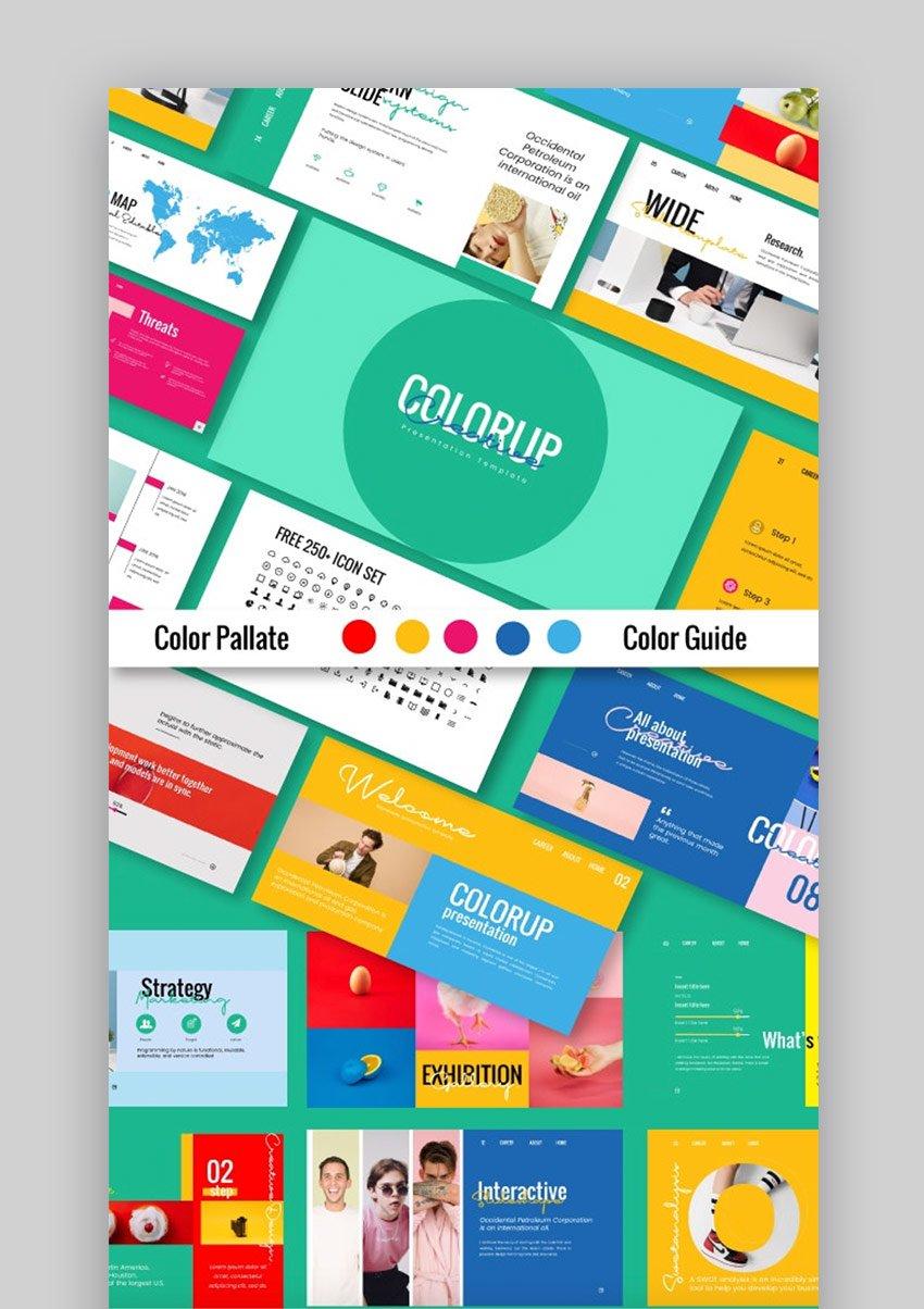 Colorup Creative Presentation template for Creative PPT Ideas