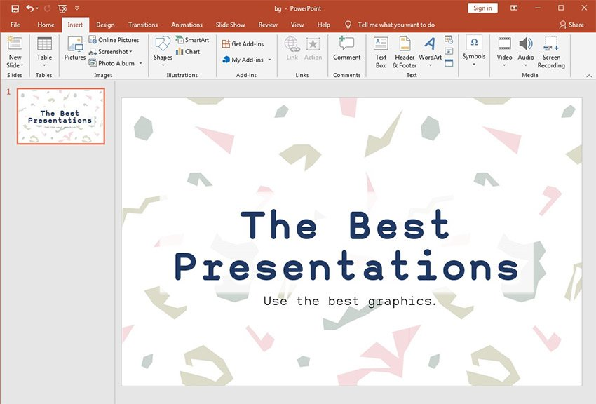 Graphic Added to PowerPoint Background