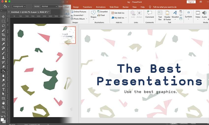 PPT Slide Size Set in Photoshop