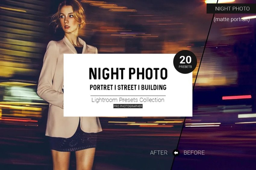 Night photo Lightroom Preset