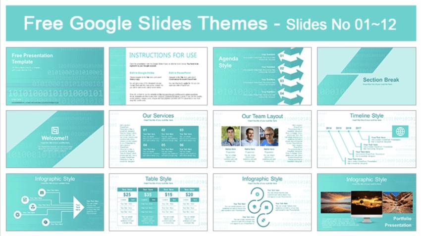 Binary Code Google Slides PowerPoint