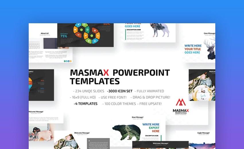 MasMax PowerPoint Slide Template