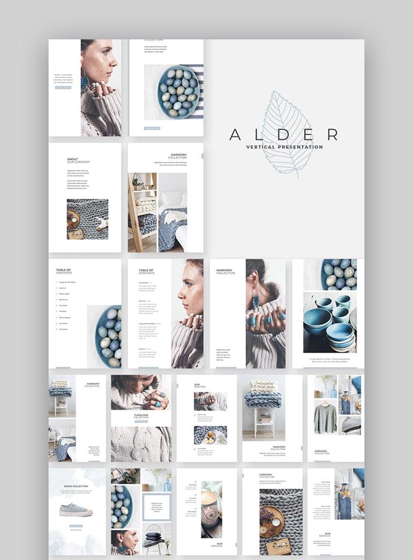 Alder PowerPoint Brochure template