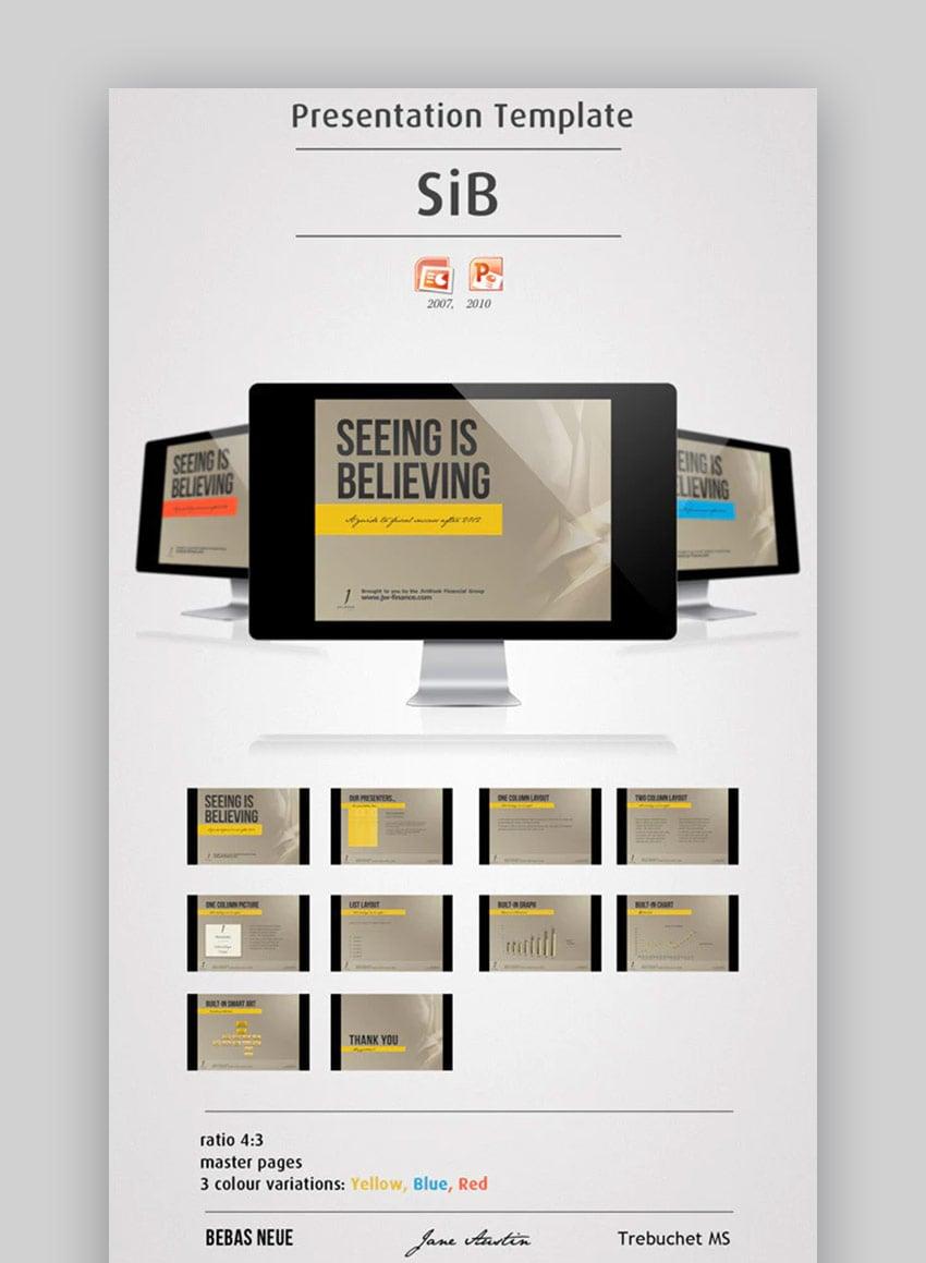 Seeing is Believing PowerPoint Brochure template