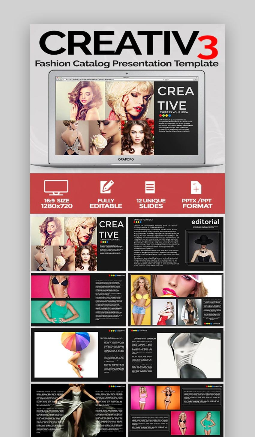 Fashion catalog PowerPoint brochure