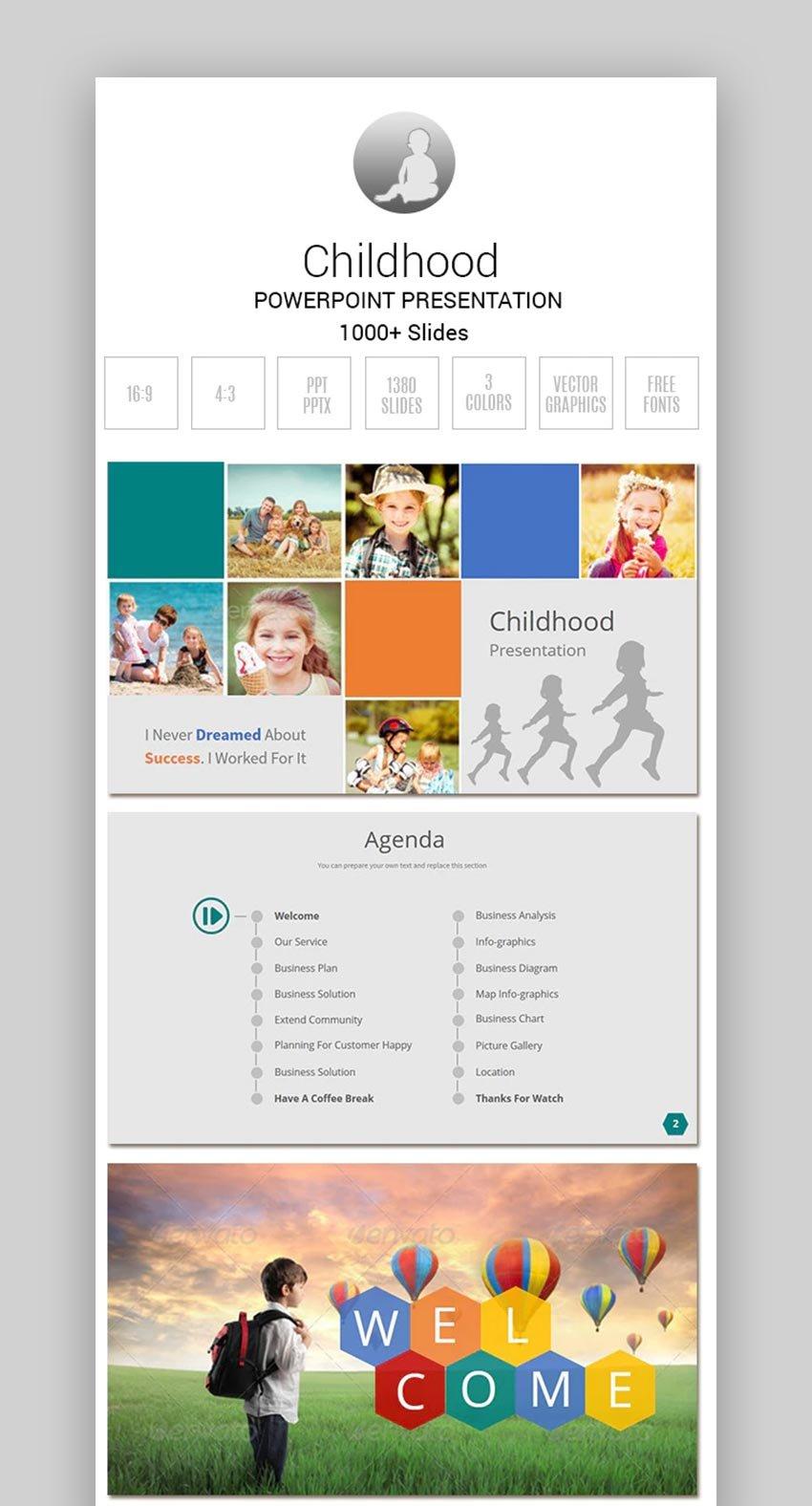 Childhood PowerPoint Brochure template