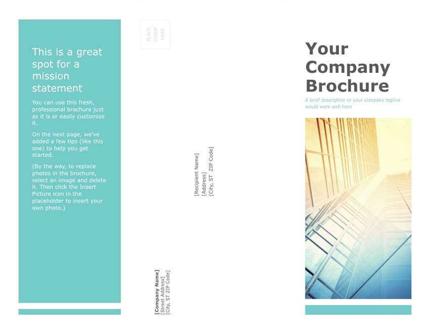 Free brochure template for PowerPoint