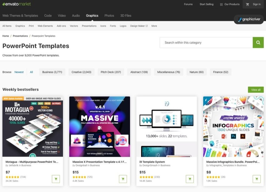 GraphicRiver Preview Images PowerPoint Templates