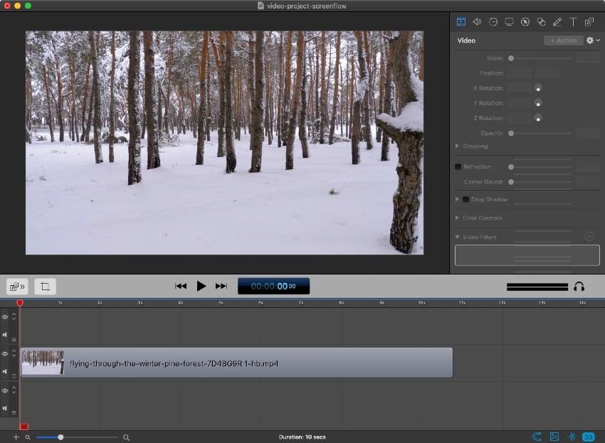 Stock footage in Screenflow