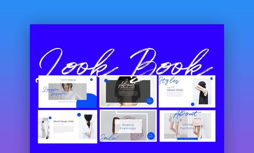 Look Book Keynote Background Template