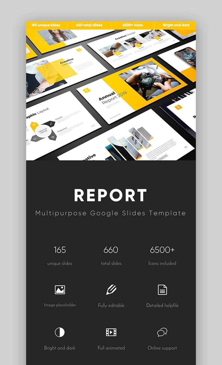 Report Multipurpose Google Slides template