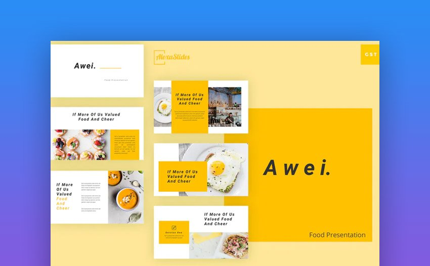 Awei Custom Google Slides template
