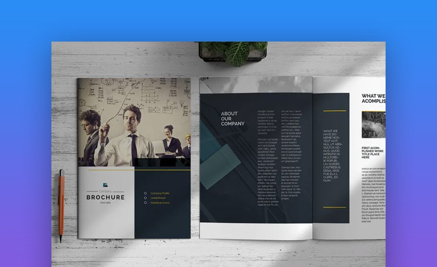 Modern product brochure template